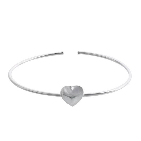 Bracelete Coração Ajustável em Prata 925