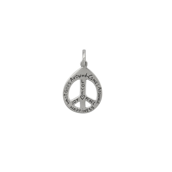 Pingente Paz e Amor Desejos em Prata 925