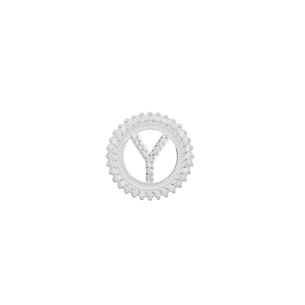 Pingente Letra Inicial Y Pedra Zircônia em Prata 925