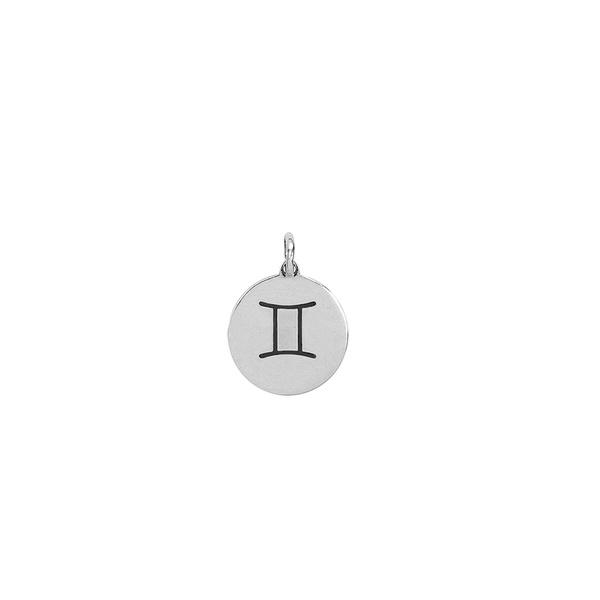 Pingente Signo Gêmeos em Prata 925