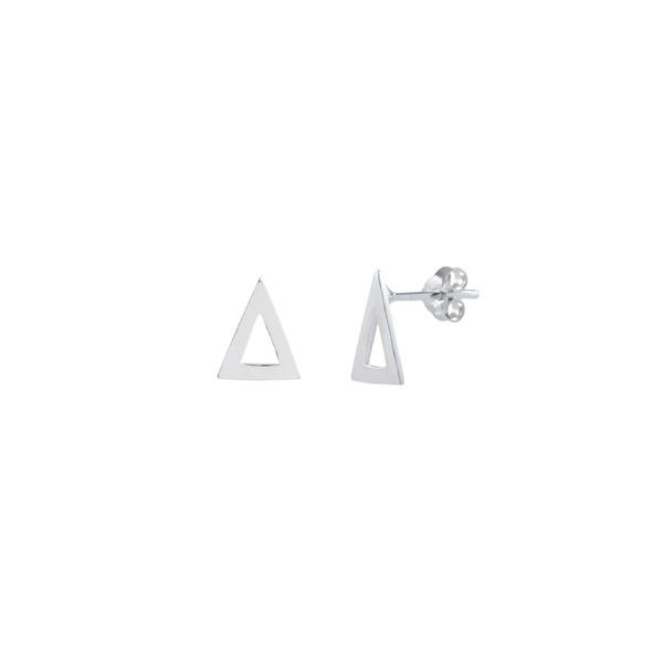 Brinco Triângulo Vazado em Prata 925