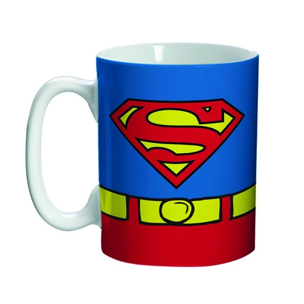 Mini Caneca Porcelana DC Superman Body Customs - 135ml - Metrópole BTC