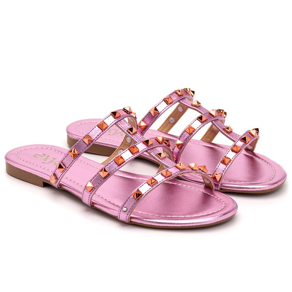 Rasteira Egypt Com Taxas - Rose Metallic