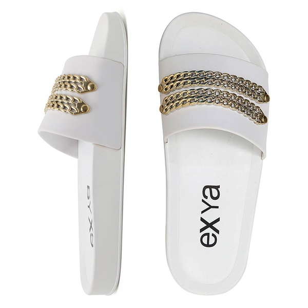 Chinelo Slide Chains - Branco