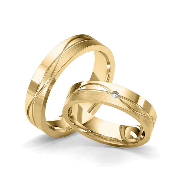 Alianças Nova Iorque ♥ Casamento e Noivado em Ouro 18K