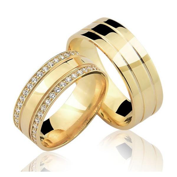 Alianças Kentucky ♥ Casamento e Noivado Banhado