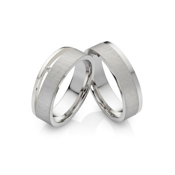 Alianças California ♥ Namoro e Compromisso em Prata 0,950