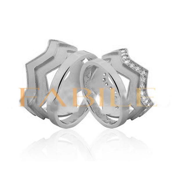 Alianças Coroa Plus ♥ Namoro e Compromisso em Prata 0,950