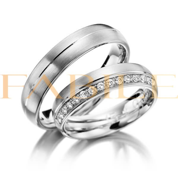 Alianças Pequim ♥ Namoro e Compromisso em Prata 0,950