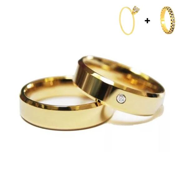 Combo Pace 6mm ♥ Casamento E Noivado Tungstênio