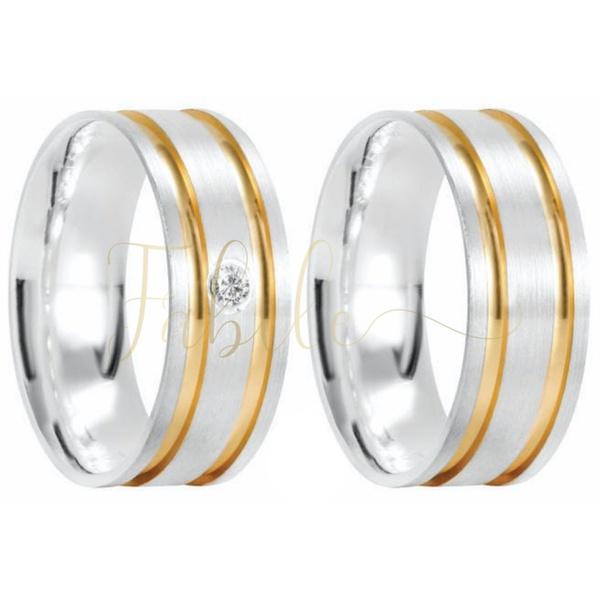 Alianças Aruja ♥ Namoro e Compromisso em Prata 0,950