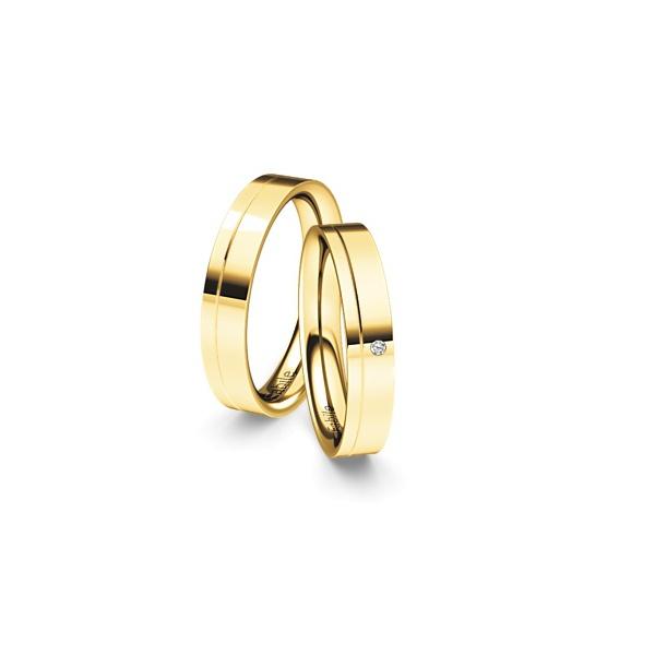 Alianças Inglaterra ♥ Casamento e Noivado em Ouro 18K