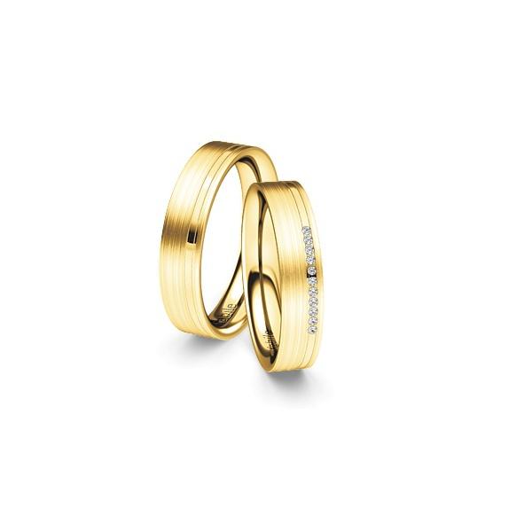 Alianças Brunei ♥ Casamento e Noivado em Ouro 18k