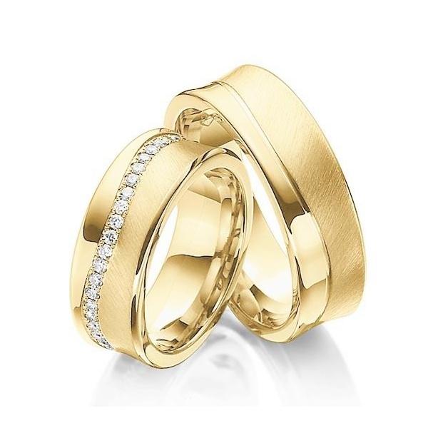 Alianças Noruega ♥ Casamento e Noivado em Ouro 18K