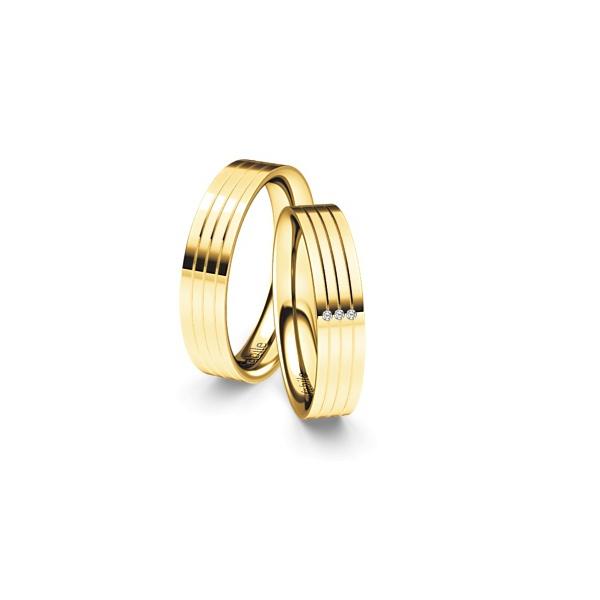 Alianças Jamena ♥ Casamento e Noivado em Ouro 18K