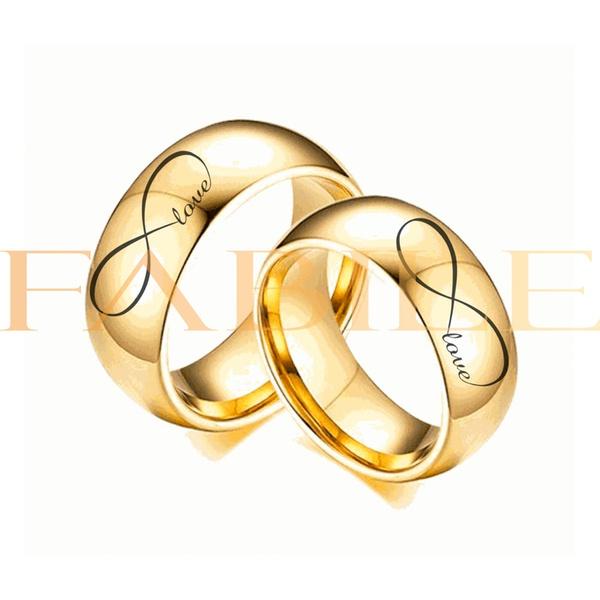Alianças Gaya 8mm Infinito Love ♥ Casamento E Noivado Tungstênio