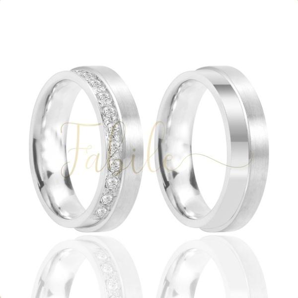 Alianças Wengen ♥ Namoro e Compromisso em Prata 0,950