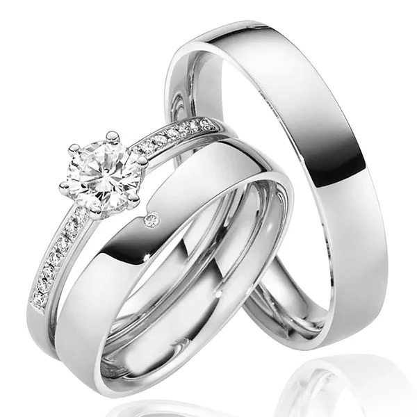 Alianças Medelaine ♥ Namoro e Compromisso em Prata 0,950