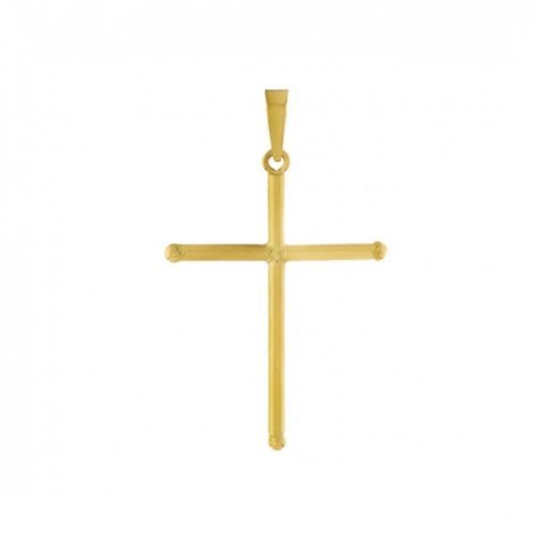 Pingente De Ouro 18k Cruz De 20mm