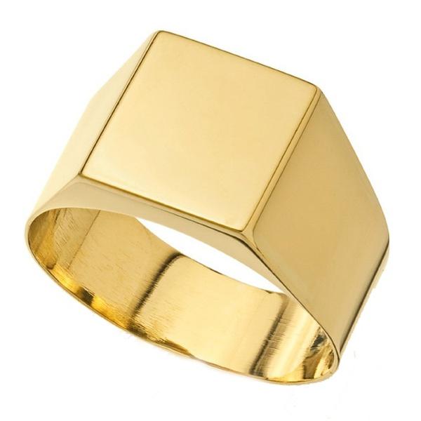 Anel De Ouro 18k Comendador Liso