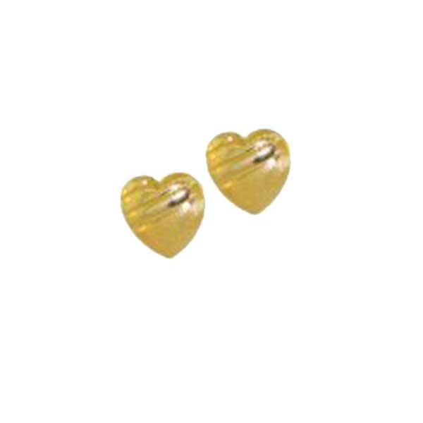 Brinco De Ouro 18k Coração 6mm