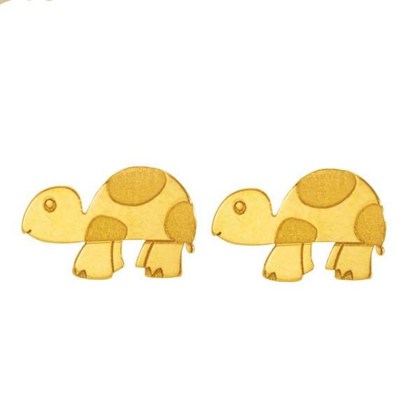 Brinco De Ouro 18k Tartaruga