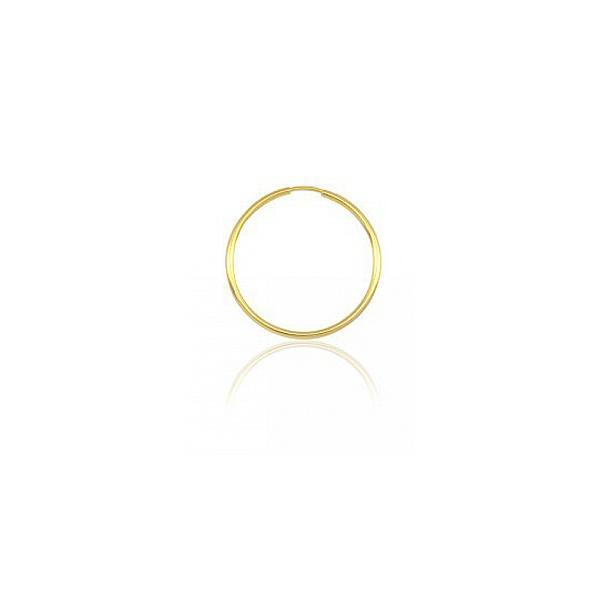 Brinco Masculino de Ouro 18k Argola Fio Redondo De 10mm