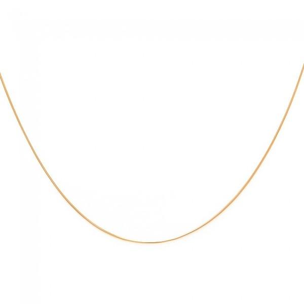 Corrente De Ouro 18k Rabo De Rato De 1,1mm Com 45cm