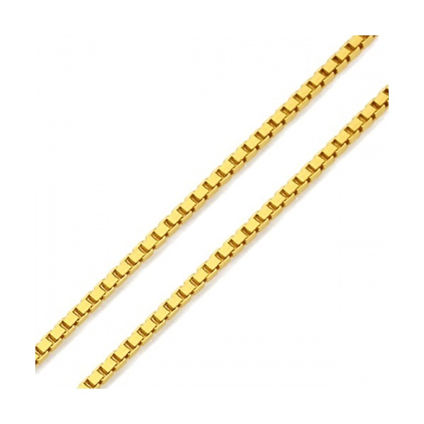 Corrente De Ouro 18k Veneziana De 1,3mm Com 60cm