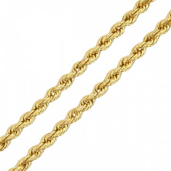 Corrente De Ouro 18k Corda De 2,1mm Com 50cm