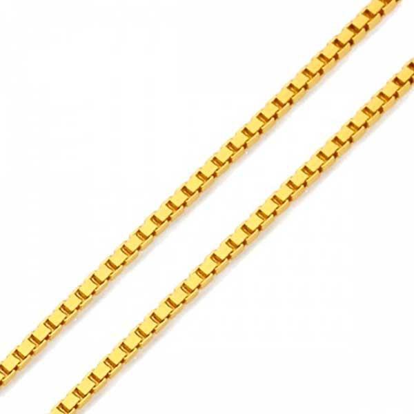 Corrente De Ouro 18k Veneziana De 0,9mm Com 60cm