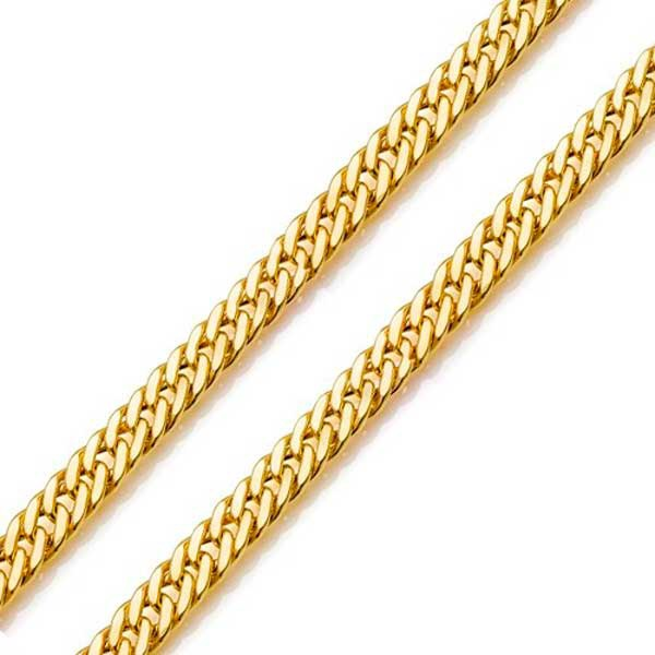 Corrente De Ouro 18k Groumet De 1,8mm Com 60cm