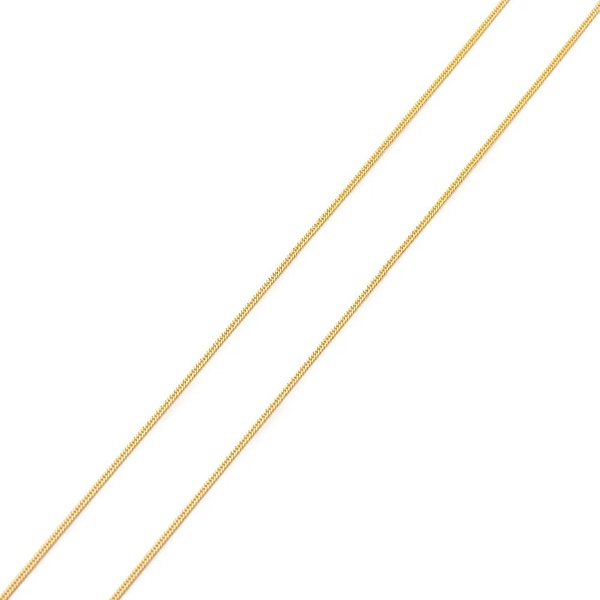 Corrente De Ouro 18k Groumet De 1mm Com 70cm