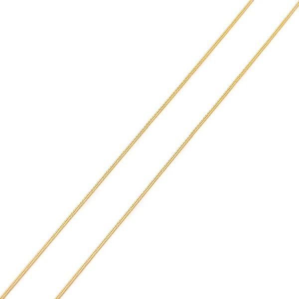 Corrente De Ouro 18k Groumet De 1mm Com 50cm