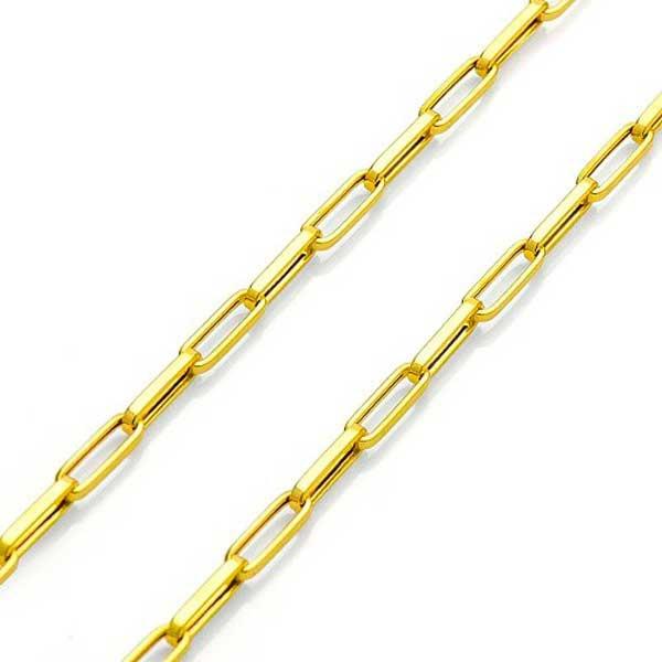 Corrente De Ouro 18k Cartie Ovalada De 2,5mm Com 70cm