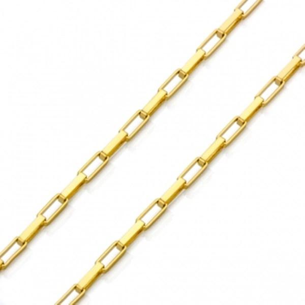 Corrente De Ouro 18k Veneziana Longa De 2,4mm Com 50cm
