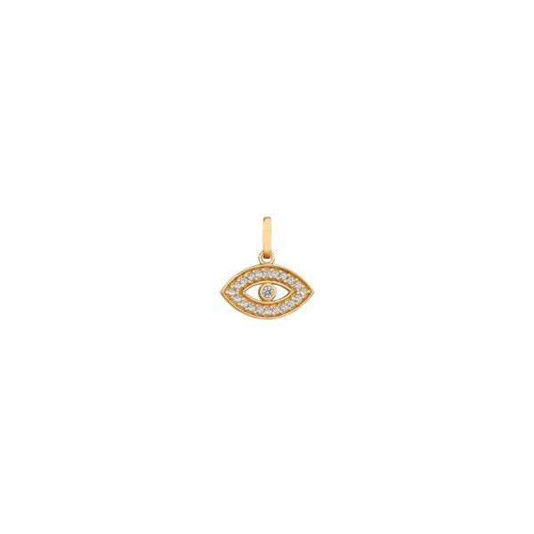 Pingente De Ouro 18k Olho Grego Com Zircônias