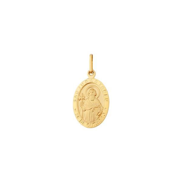 Pingente De Ouro 18k Medalha De São Judas Tadeu Médio