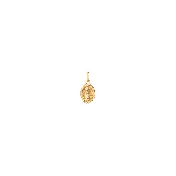 Pingente de Ouro 18k Medalha de Nossa Senhora de Fátima pequena