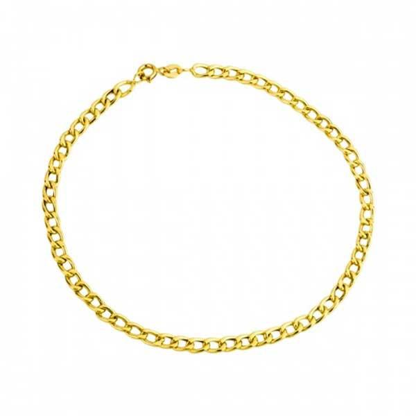Pulseira De Ouro 18k Groumet De 4,5mm Com 22cm