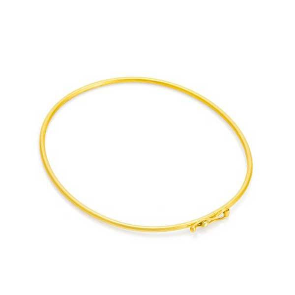 Bracelete De Ouro 18k De 1,2mm Com 6,5cm