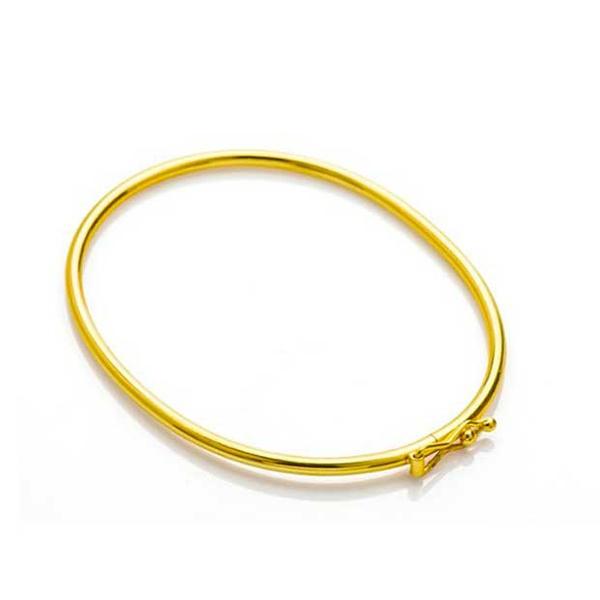 Bracelete De Ouro 18k Algema De 2,8mm Com 6,7cm