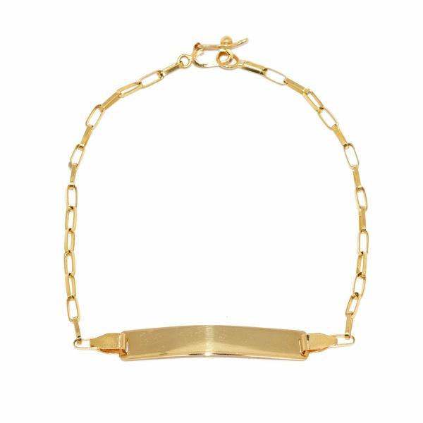 Pulseira Infantil De Ouro 18k Cartie De 16cm Com Chapinha