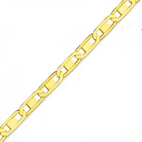 Tornozeleira De Ouro 18k Piastrine De 1,6mm Com 24cm