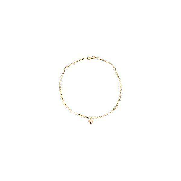 Tornozeleira De Ouro 18k Elo Português Oval Com 25cm