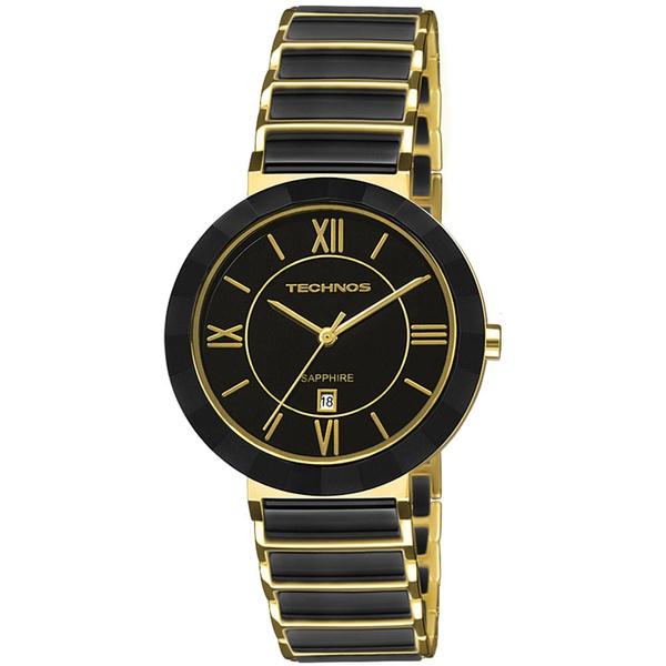 Relógio Technos Feminino Ceramic 2015CE/4P Dourado