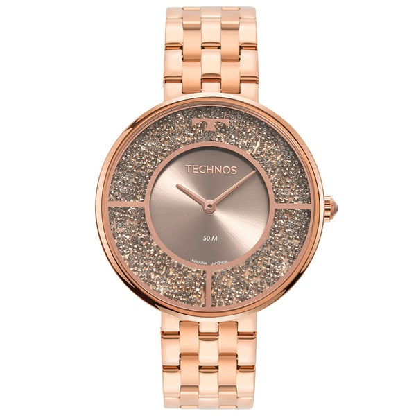 Relógio Technos Feminino Crystal 2025LTR/1C Rosé