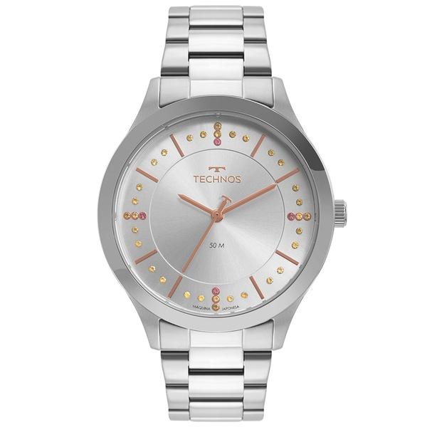 Relógio Technos Feminino Trend 2036MNJ/1T Prata