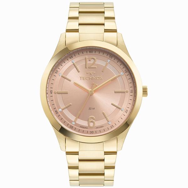 Relógio Technos Feminino Dress 2036MNK/1T Dourado
