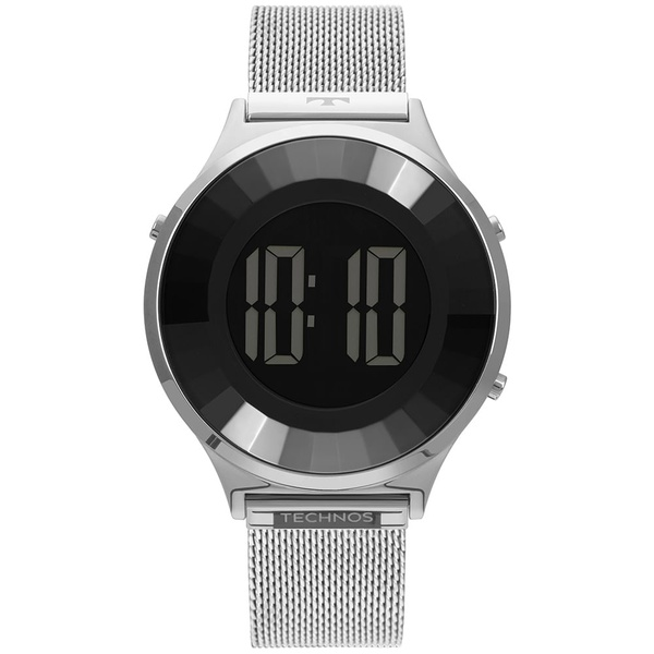 Relógio Technos Feminino Digital Bj3851ag/1p Prata